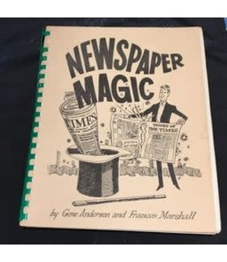 Book USED Newspaper Magic by Gene Anderson And Frances Marshall 6th Pntg 1980 Spiral VG