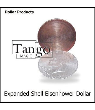 Expanded Shell Eisenhower Dollar, Online Instructions and Gimmick by Tango Magic