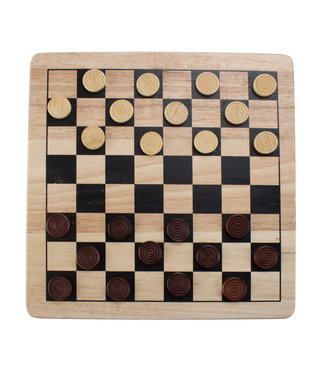 Brybelly 2-in-1 Checkers and Tic-Tac-Toe Set Wooden