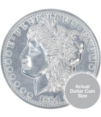 Jumbo Coin, Morgan Dollar - 3 inch