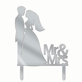 Forum Novelties Cake Topper Mr & Mrs Silhouette