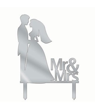 Forum Novelties Cake Topper Mr and Mrs Silhouette