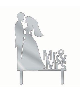 Forum Novelties Cake Topper Mr & Mrs Silhouette