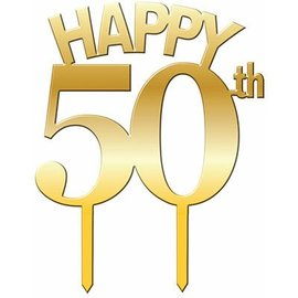 Forum Novelties Cake Topper Happy 50th