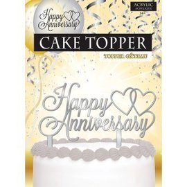 Forum Novelties Cake Topper Happy Anniversary