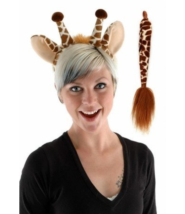 Elope Giraffe Ears And Tail Kit by Elope
