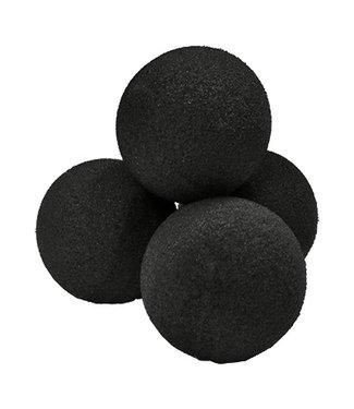 "1.5"" Sponge Balls, Black - High Density Ultra Soft by Magic By Gosh"
