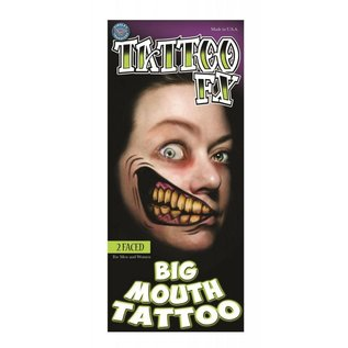 Tinsley Transfers 2 Faced Big Mouth Tattoo