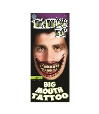 Tinsley Transfers Chipped Big Mouth Tattoo