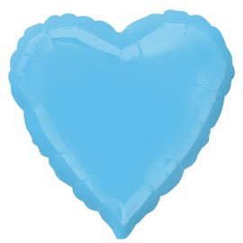 Pale Blue Heart Foil Balloon 18""