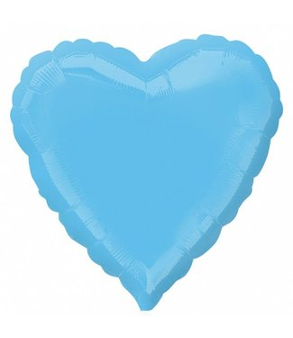 "Pale Blue Heart Foil Balloon 18"""