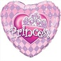 Qualatex Pink Princess Heart Foil Balloon 18""