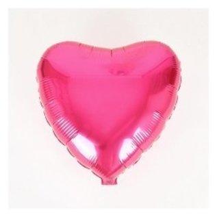 "Metallic Fuschia Heart Foil Balloon 18"""