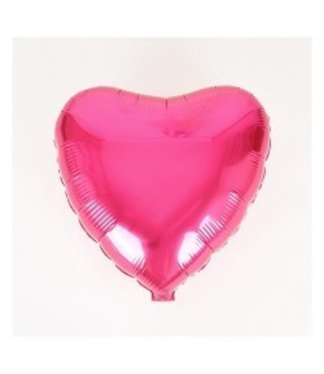 Metallic Fuschia Heart Foil Balloon 18""