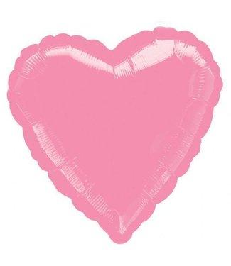 "Pastel Pink Heart Foil Balloon 18"""