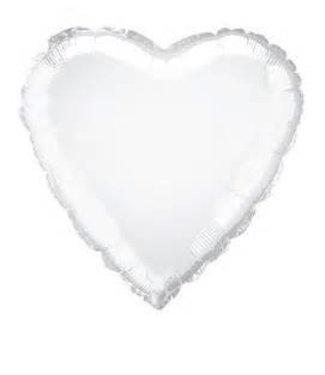 "White Heart Foil Balloon 19"""