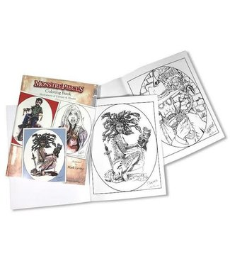 MonstrePieces Coloring Book by Mark Levine