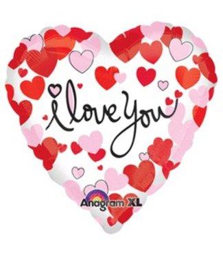 "I Love You Heart Balloon 17"""