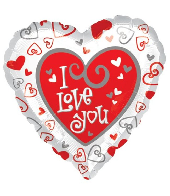 "I Love You Heart 2-Sided Balloon 17"""