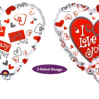 I Love You Heart 2-Sided Balloon 17""