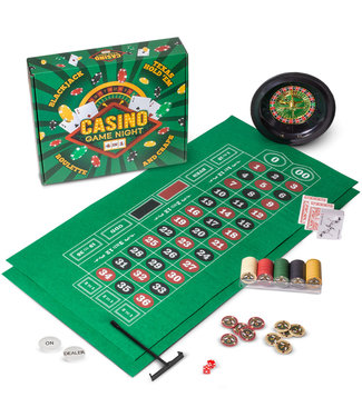 Brybelly Casino Game Night  4 in 1 Roulette Blackjack Craps Hold Em