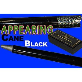 Appearing Cane, Metal - Black w/Recoil Stopper by China Magic