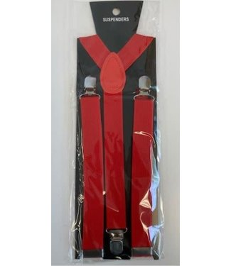 Suspenders 1 inch Red