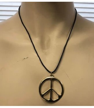 Metal Peace Sign Necklace by Flashback And Freedom Inc