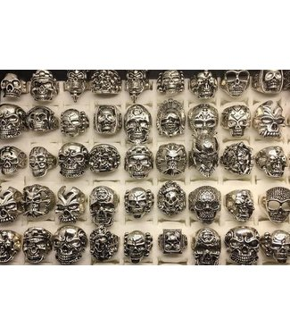 Ring, Skull - Silver, Each Assorted