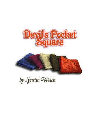 Silk - Devils Pocket Square 11 inch, Red by Lynetta Welch