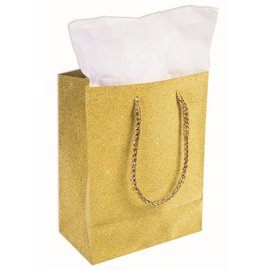 Forum Novelties Diamond Gift Bag, Gold
