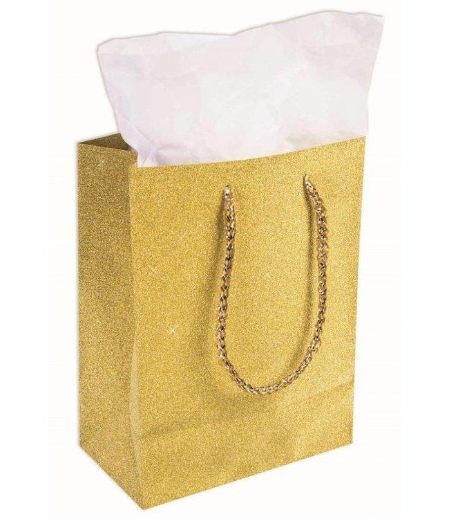 Forum Novelties Diamond Gift Bag, Gold