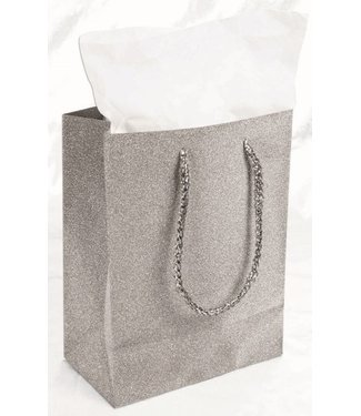 Forum Novelties Diamond Gift Bag, Silver