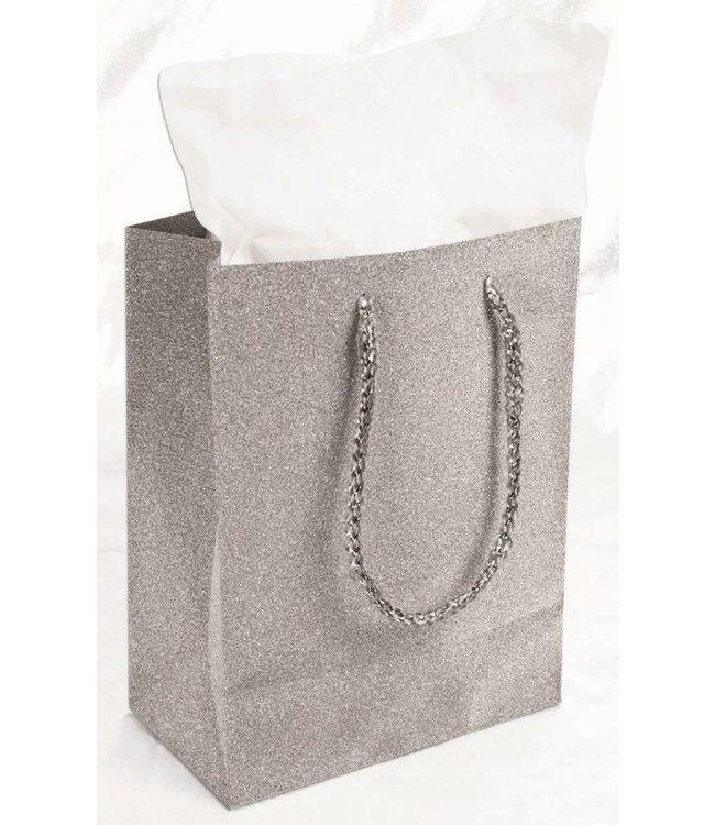 Forum Novelties Diamond Gift Bag, Silver