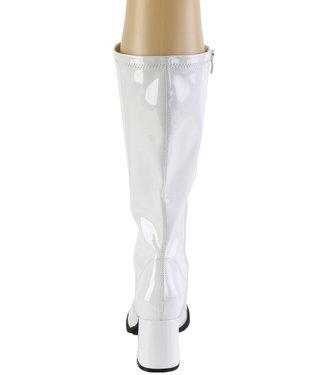 Pleaser Gogo Boots White Size 9