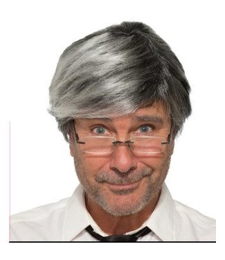 Forum Novelties Old Man Wig - Grey