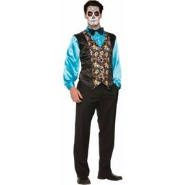 Forum Novelties Day Of The Dead Vest - Adult 42