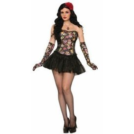 Forum Novelties Day Of The Dead Corset - Adult 14/16