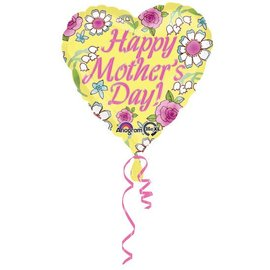 Happy Mother's Day Yellow Balloon