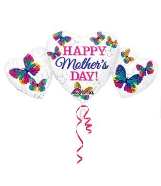 Happy Mother's Day Heart Trio Balloon
