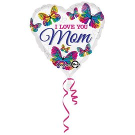 I Love You Mom Butterflies Balloon