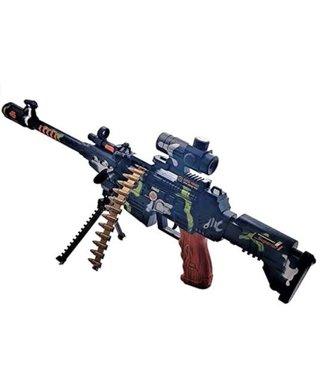 Gun Light Up Machine Gun With Sound