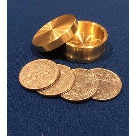 Ronjo Okito Box Quarter 4 Coin, Beveled by Ronjo