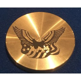 Ronjo Okito Box Lid Eagle/Flag, Half Dollar