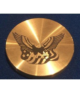 Ronjo Okito Box Lid Eagle/Flag, Half Dollar