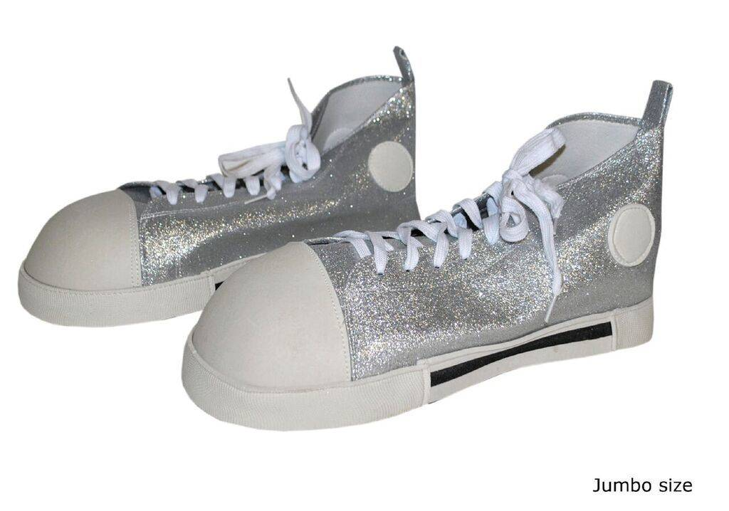Clown Shoes Silver Glitter Adult Ronjo Magic Costumes And Party