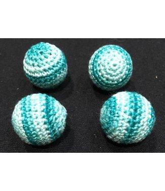Ronjo Crocheted Balls Acrylic 4 pk, 3/4 inch - Multi Blue (M8)