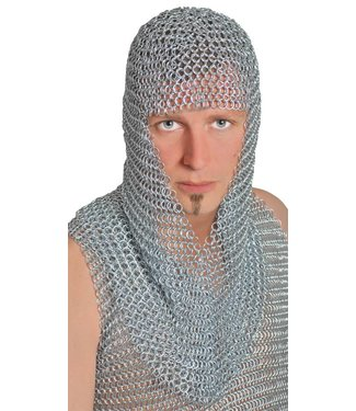 Morris Costumes and Lacey Fashions Chainmail Hood - Long by Morris Costumes