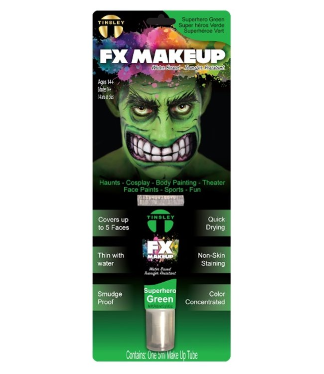 Tinsley Transfers FX Makeup, Superhero Green by Tinsley