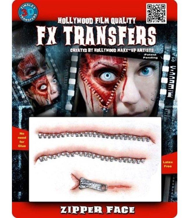 Tinsley Transfers Zipper Face 3D FX Transfers